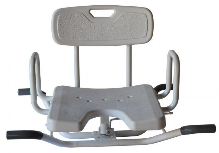 Swivel Bath Chair With Lock Ability Assist