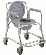Aluminium Commode Shower Chair On Wheels