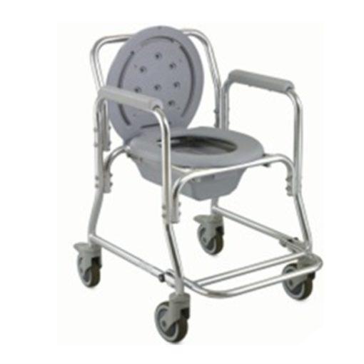Aluminium Commode Shower Chair On Wheels ALK699L