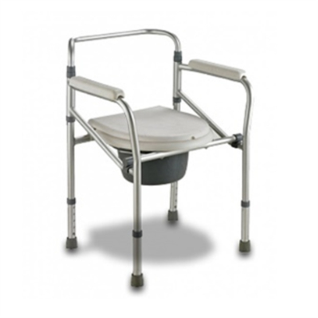 Folding Aluminium Commode